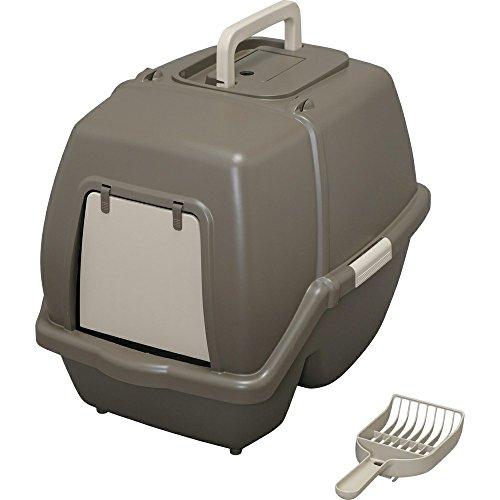 アイリスオーヤマ 猫用トイレ本体 掃除のしやすいネコトイレ (スコップ付き) ブラウン 大型