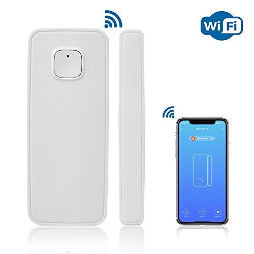 AGSHome WiFi Türsensor | WLAN Tür und Fensteralarm Fernüberwachung mit Smart Life app | ohne Bohren | Batterie-Betrieb | kein Hub erforderlich Smart Home