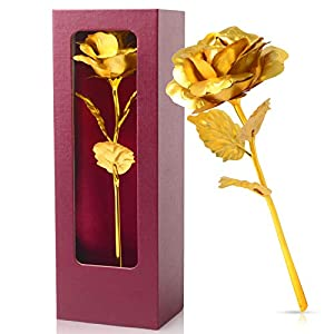 Silk Flower Arrangements Crystal Rose Purple Box Gifts for Women Birthday Gifts for her Gift for mom Galaxy Rose Gold Infinity Roses Flower, Gift for Her/Wife/Mom/Girl in Valentines Day, Mothers Day, Anniversary