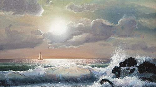 Puzzle de 500 piezas, rompecabezas para niños, adultos, noche, junto al mar, paisaje, decoración especial para el hogar