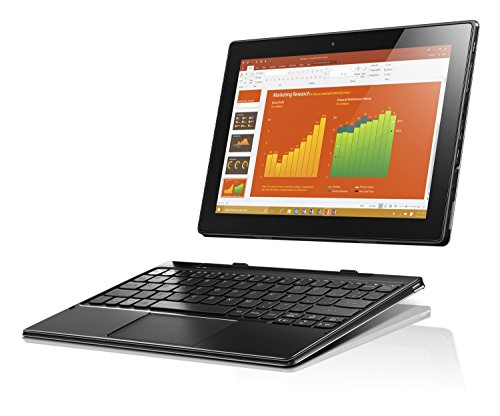 Lenovo Ideapad MIIX 310-10ICR Convertibile con Display da 10.1' LED, Processore Intel Atom Z8350, RAM 2 GB, 64 GB eMMC, Scheda Grafica Integrata, S.O. Windows 10 Home, Argento, Tastiera Italiana