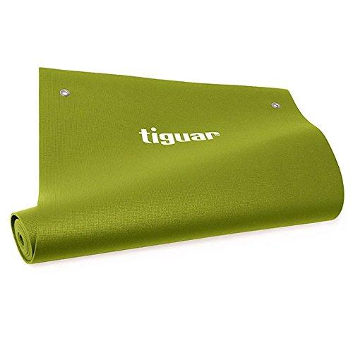 tiguar Yoga Mat (Olive)–Tappetino da yoga antiscivolo–170x 60x 0,4cm–tappetino da yoga