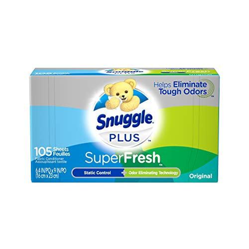 Snuggle Plus Super Fresh Fabric Softener Dryer Sheets with Static...