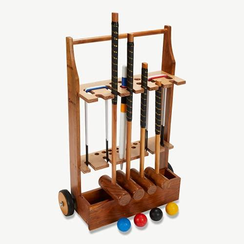 DOCTOR SPORT Puertas de acero de 43 cm x 10 cm, martillos, de 61 a 96 cm, diseño de Inglaterra, madera dura india, bolas de plástico