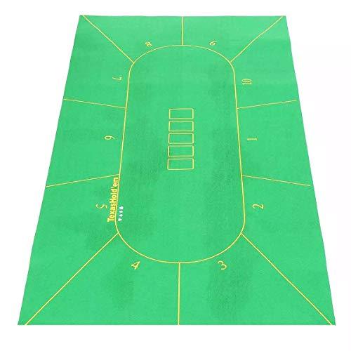 H-ENY 70X35in 10-Spieler-Faltfilz-Rotary-Texas-Holdem-Poker-Tischplatte-Tuch-Mat-Brett-Spiel-Poker-Tisch-Tuch-Unterhaltungsplatine