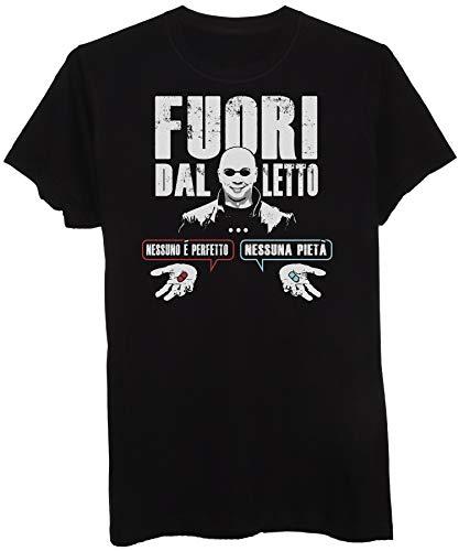 T-Shirt Parodia Matrix : Fuori dal Letto Nessuna Pietà - Cult Divertente - Uomo-L-Nera