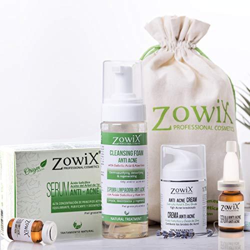 ACNÉ OUT. Tratamiento Antiacne de Choque. Elimina el acne facial, espinillas y granos. Lote 3 productos 1 Espuma purificante 1 Serum regulador piel grasa 1 Crema antiacne