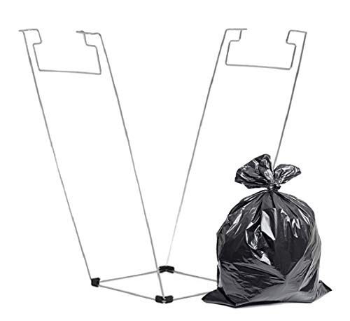 APQ Trash Bag Holder 16 x 37 Steel Waste Container Holder 16x37 Plastic and Paper Contractor Bags, 55 Gallon Portable Bag Holder for Home Kitchens, Yard, Lawn, Garage, Laundry and More