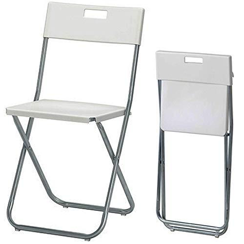 2X Folding Chair, White