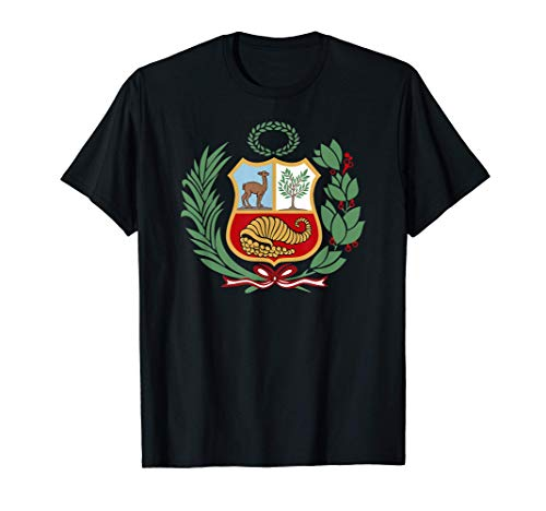 Escudo Perú Polo Peruano Franja Roja Fútbol Soccer Unisex Camiseta