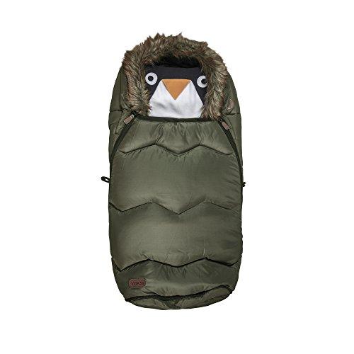 Voksi® Urban, Universal-Kinderwagentasche/Fußsack, olivengrün mit Fell