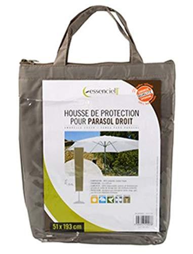 PEGANE Housse de Protection pour Parasol Droit Coloris Taupe - Dim : 51 x 51 x 193 cm