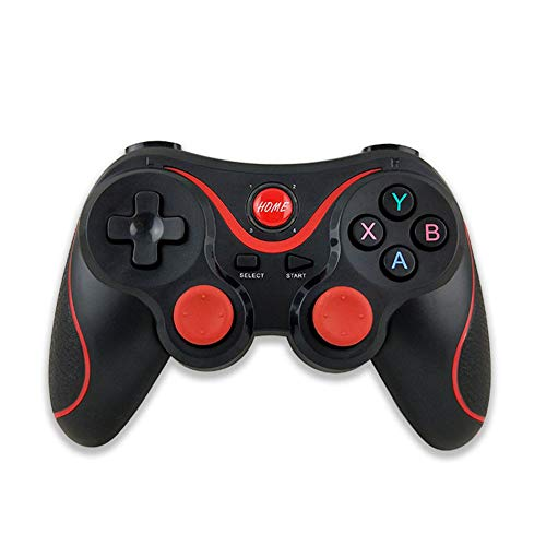 HUIIT Controlador De Juegos Inalámbrico Bluetooth Gamepad Joystick para Teléfonos Inteligentes/Tabletas/Televisores/Cajas De TV Smart Wireless Joystick Android Gaming Remote Control,Negro