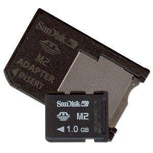SanDisk 1GB Micro Memory Stick (M2) mit Adapter
