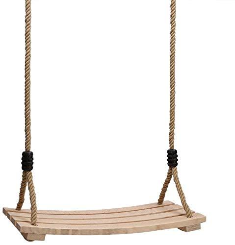 Jardín Adulto Swing Asiento para niños Asientos de madera de madera (pesas 100 kg), Cuerda ajustable, para interiores y exteriores,Wood color