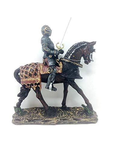 Osiris Trading UK Statue / Skulptur, Ritter auf einem gepanzerten Pferd