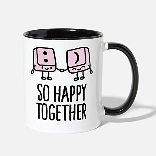 Toetsenbord toetsen Smiley zo gelukkig samen Contrast koffiemok