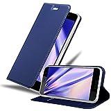Cadorabo Hülle für HTC U Play in Classy DUNKEL BLAU -