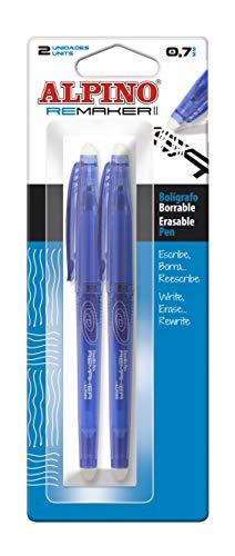 Alpino Blister 2 Boligrafos Remaker II Azul, BB000200