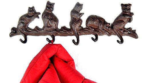 Tinas Collection Garderobe Katze Kleiderhakenleiste mit Katzenmotiv Kleiderhaken Wandhaken Katze Design
