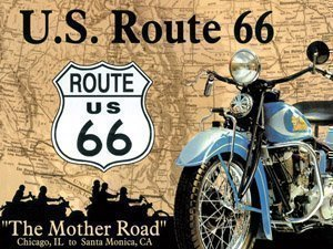 signs-unique na Bicicleta de la Ruta 66/Mapa imán para Nevera