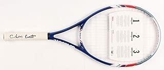 chris evert signed tennis racket