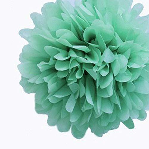 Bernice Winifred - Flores Decorativas (10 Unidades, 15 cm), diseño de Flores de Papel de Seda de 15 cm, Menta, Mint