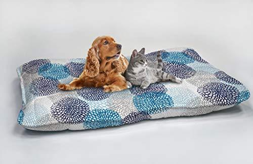 Fantasy Soffioni Blu Maxy Cuscinone Imbottito per Cani, 60 x 100 cm