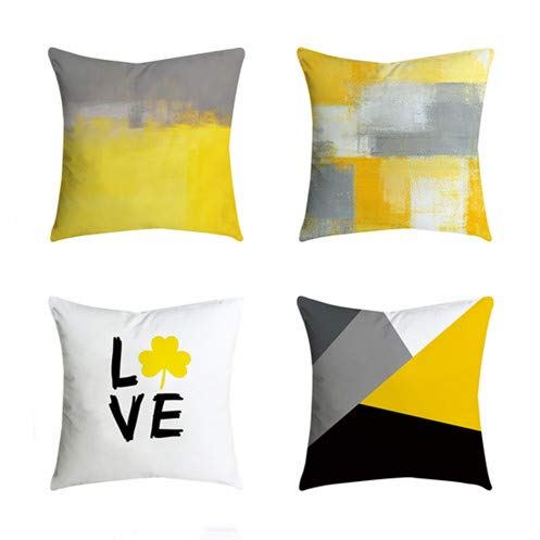 Outdoor Decorative Throw Pillow Covers Cushion Cases Home Decor Accent Square 18 x 18 Set of 4 for...
