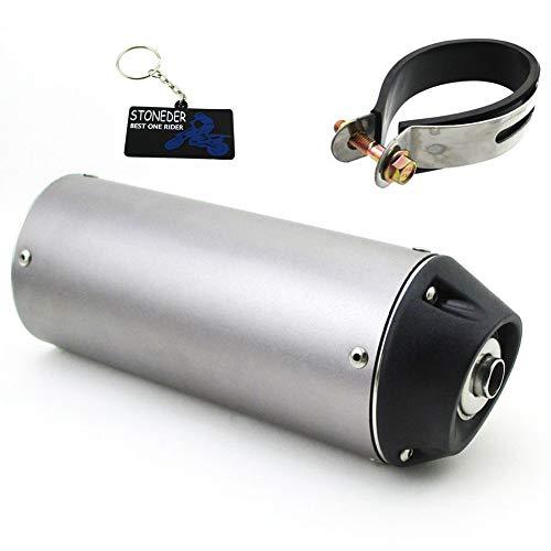 Stoneder Schalldämpfer, 38 mm, leise, für 125-cm³, 140-cm³, 150-cm³-, 160-cm³- Pitbike, -Geländemotorrad, Motocross
