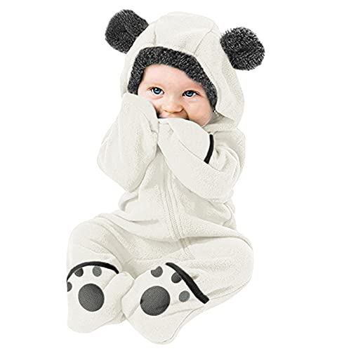 Boys Coat&Jacket Infant Baby Girls Boys Solid Cartoon Ears Hoodie Romper Clothes Fleece Jumpsuit