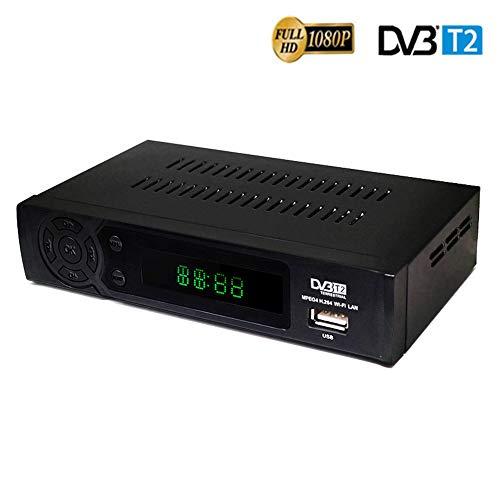 TDT HD Set Top Box HD Video Audio Digital TV Box Receptor de señal Set-Top Box Digital Terrestre Receptor de TV SCART y HDMI AV para Viejos y nuevos televisores