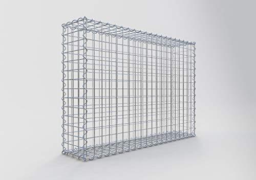 GABIONA | Gabione 100 x 70 x 20 cm | Gabionenkorb mit Maschenweite 5x5 cm | Robuste Steinkorb Mauer mit Spiralverschluss