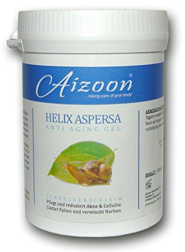 Aizoon 250ml Dose Schneckengel Schneckenschleim Schneckencreme Anti Aging Gel Narben Cellulite Creme BEKANNT AUS DEM SAT1 FRÜHSTÜCKSFERNSEHEN
