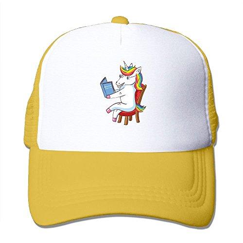 sand Dabbing Unicorn Read Book Chair Mesh Trucker Caps/Hats Adjustable for Unisex Hüte, Mützen & Caps