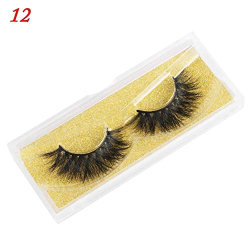 MBV Long Wispies Fluffy Handmade Cils 25MM Cils Cheveux Faux Cils Full Strips Lashes Extension, 5DL92