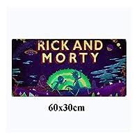 マウスパッド リックアンドモーティ60X30Cm大型ゲーミングマウスパッドアニメロッキングエッジマウスパッドノンスキッドPcアクセサリーデスクノートマットF