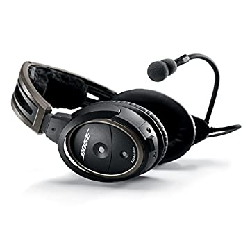 Bose A20 Aviation Headset with Bluetooth Dual Plug Cable Black