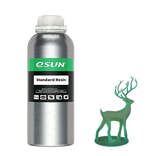 eSUN LCD UV 405nm Standard Harz 3D Drucker Rapid Resin für LCD 3D-Drucker Schnell UV-Härtung Photopolymer Kunstharz Flüssige 3D-Druckmaterialien, 1000g Grün