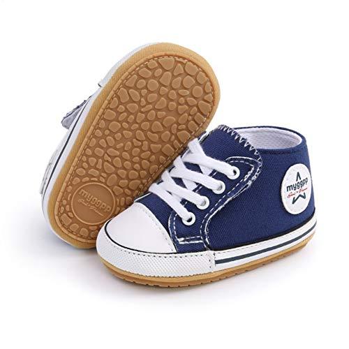 Zapatos de Lona niños Zapatillas de Deporte Casuales Suela Suave Antideslizante Primeros Zapatos para Caminar para bebés