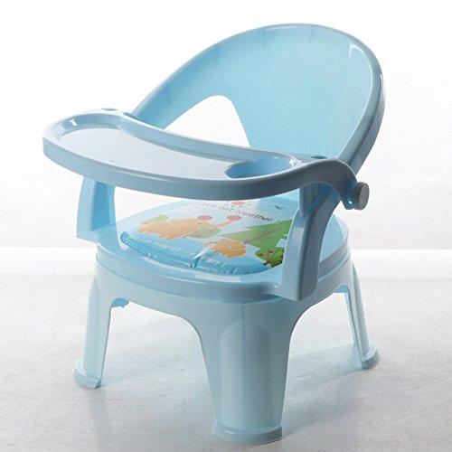 Hocker ZHANGRONG- Selles Kinderstuhl Mit Klangstuhl Bringen Sie Einen Tisch Mit Kinderstuhl Esstisch Rückenlehne Kunststoff - pas déformé (Farbe : Light Blue - Detachable Plate)