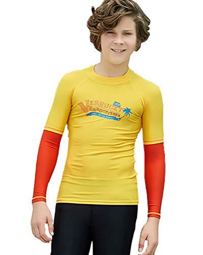 DaobaKIDS Kinder Lange Ärmel Rashguard Jungen Mädchen Schwimmen Shirt Sonnenschutz LSF50+ Badeanzug