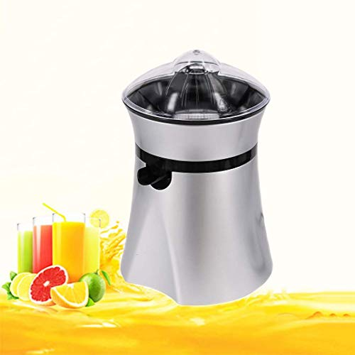 Electric citrus juicer Stainless steel orange juicer with 200W ultra-quiet motor and drip-proof nozzle, two interchangeable cones can be used with all sizes of citrus fruits
