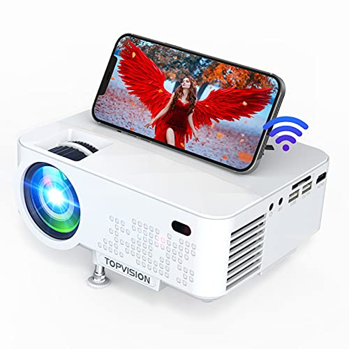 WiFi Projector Full HD 1080P Portable Mini Projector for Movie Outdoor Home Theater 6500L Video Projector Compatible with Phone/TV Stick/PS4/USB/HDMI