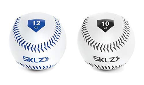 SKLZ Weighted Throwing Baseballs, 2-Pack (10 Ounce and 12 Ounce)