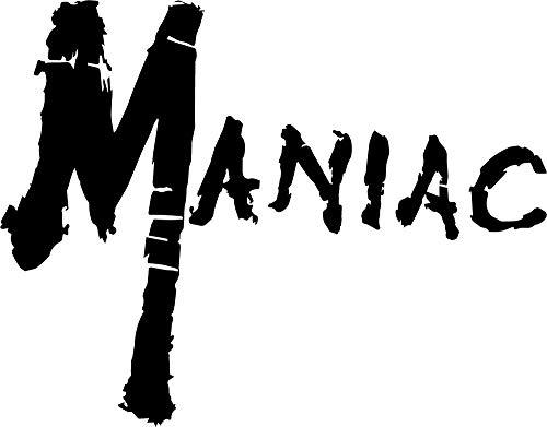 Maniac Vinyl-Aufkleber, Horrorfilm, Kult Slasher