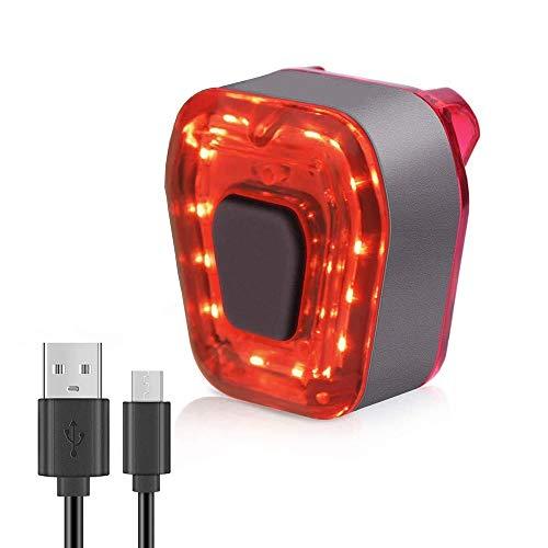 BINGXIAN Fahrrad-Rücklicht, USB wiederaufladbar, helles LED-Fahrradlicht-Set, wasserdicht, mit 5 Lichtmodi, 500 mAh Akku, kompatibel mit allen Mountain- und Rennrädern