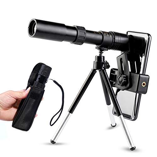 Newseego 4K 10-300 x 40 mm Telescopio Monocular, HD de Alta Potencia con Clip de Teléfono y...
