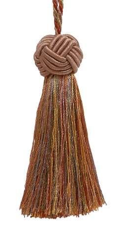 Decorative 89mm Tassel / Lt Bronze, Olive Green, Terracotta / Baroque Collection Style# BTS Color: CHAPARRAL - 5615