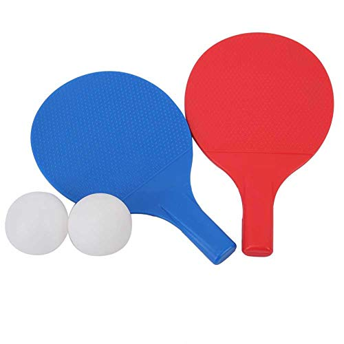 For Sale! Alomejor Kids Table Tennis Bat Children Table Tennis Paddles with 2 Ping Pong Balls and Po...